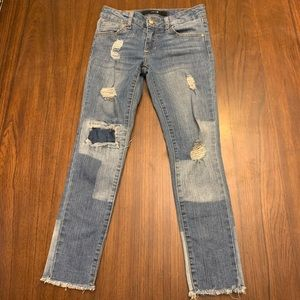 Joes Jeans Distressed raw hem skinny jeans